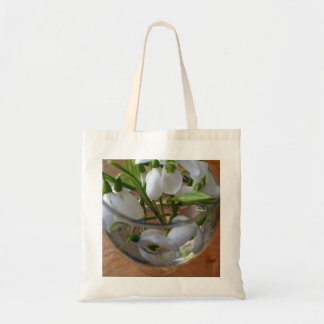 glass of snowdrops tote bag