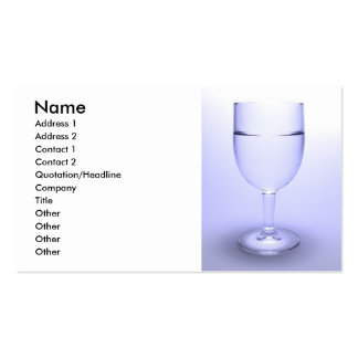 Glass of water business card templates
