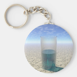 Glass of Water Key Ring