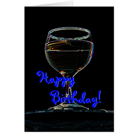 Glass of Wine birthday card