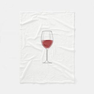 Glass of Wine Fleece Blanket
