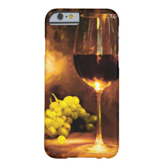 Glass of Wine & Green Grapes in Candlelight Barely There iPhone 6 Case