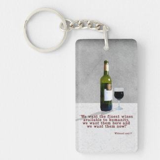 Glass of Wine Key Ring