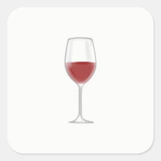 Glass of Wine Square Sticker