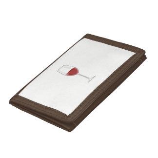 Glass of Wine Tri-fold Wallets