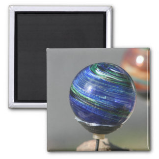 Glass orb square magnet