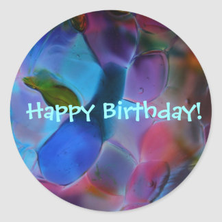 """""""Glass Planet"""" large Birthday stickers"""