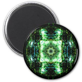 Glass Portal Mandala 6 Cm Round Magnet
