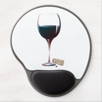 Glass Red Wine Art Gel Mousepad