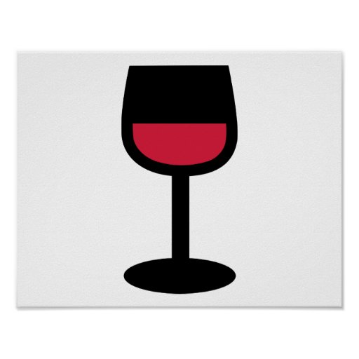 Glass red wine posters