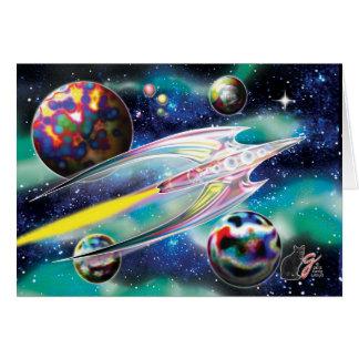 Glass Rocket Card