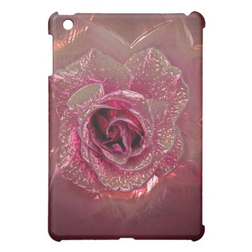 Glass Rose abstract pink  iPad Mini Cover