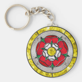 Glass Rose Key Ring