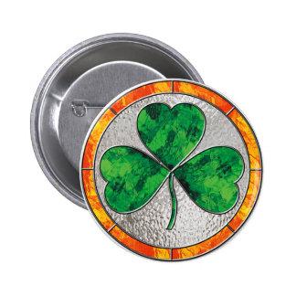 Glass Shamrock Button