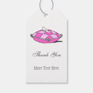 Glass Slipper Pink Pillow Custom Thank You Tag