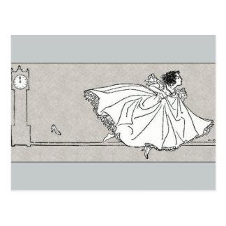 Glass Slipper Vintage Cinderella Postcard