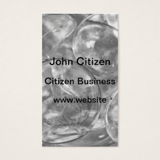 Glass sphere texture business card