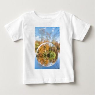 Glass sphere with autumn nature reflection in it baby T-Shirt