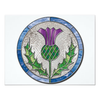 Glass Thistle 11 Cm X 14 Cm Invitation Card