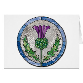Glass Thistle Greeting Card