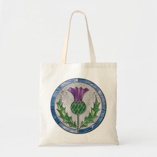 Glass Thistle Budget Tote Bag
