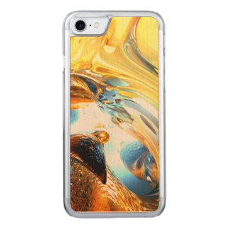 Glass Tidal Wave Abstract Carved iPhone 7 Case