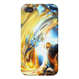 Glass Tidal Wave Abstract iPhone 4 Cases