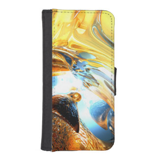 Glass Tidal Wave Abstract Phone Wallet