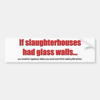 Glass Walls Bumper Sticker