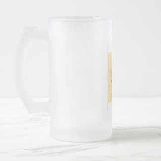 GLASS WARE FROSTED GLASS MUG