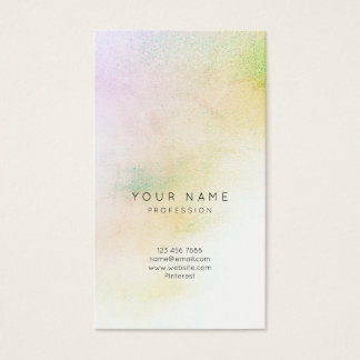 Glass White Purple Greenly Yellow Ombre Stylist Business Card
