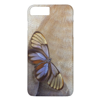 Glass-wing Butterfly Egyptian Goose Feather iPhone 8 Plus/7 Plus Case