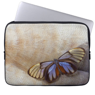 Glass-wing Butterfly Egyptian Goose Feather Laptop Sleeve