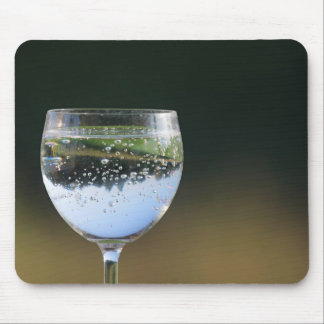Glass with drink mouse pad