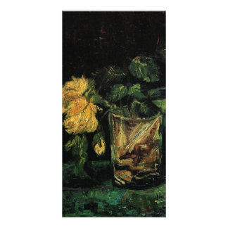 Glass with Roses by Vincent van Gogh Picture Card
