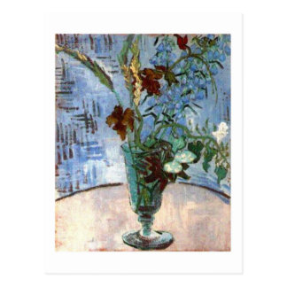 Glass with Wild Flowers, Van Gogh Fine Art Postcard