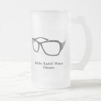 glasses 1, Bobby Kadell Wears Glasses Frosted Glass Mug