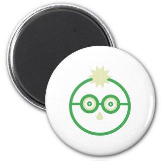 Glasses 6 Cm Round Magnet