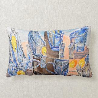 Glasses and lemons lumbar cushion
