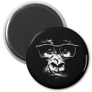 Glasses Gorilla 6 Cm Round Magnet
