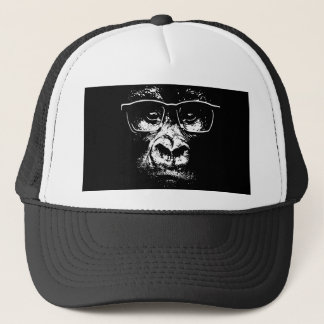 Glasses Gorilla Trucker Hat
