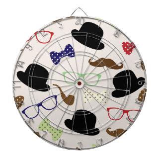 Glasses, Hats and Mustache Dartboard