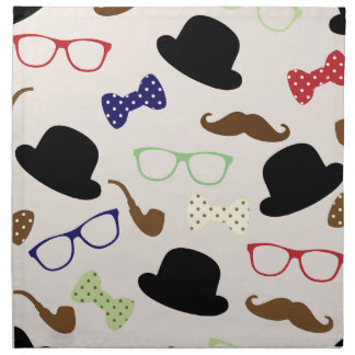 Glasses, Hats and Mustache Napkin