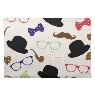 Glasses, Hats and Mustache Placemat