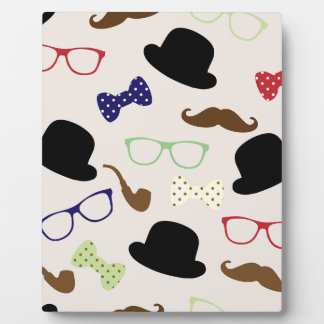 Glasses, Hats and Mustache Plaque