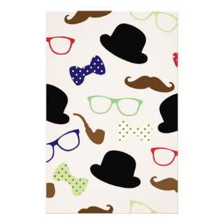 Glasses, Hats and Mustache Stationery