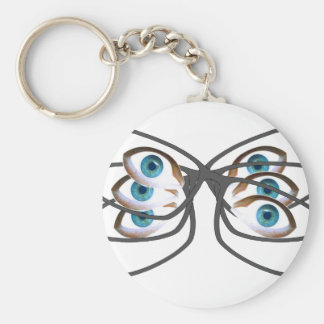 Glasses Image Key Ring