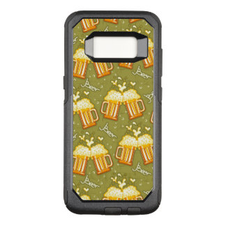 Glasses Of Beer Pattern OtterBox Commuter Samsung Galaxy S8 Case