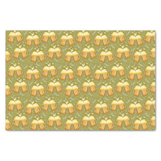 Glasses Of Beer Pattern Tissue Paper