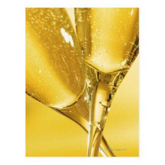 Glasses of Champagne Postcard